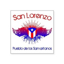 "San Lorenzo W Square Sticker 3"" x 3"""