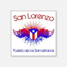 """San Lorenzo W Square Sticker 3"""" x 3"""""""
