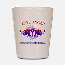 San Lorenzo W Shot Glass