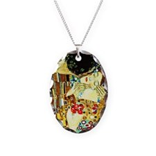 Klimt - The Kiss (closeup), Fa Necklace