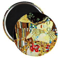 Klimt - The Kiss (closeup), Famous painting Magnet
