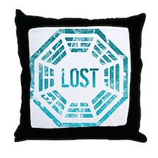 Lost Dharma Blue Throw Pillow