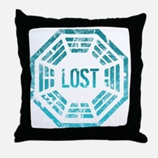 Lost Dharma Blue Throw Pillow