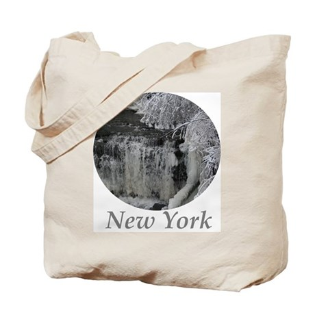 New York Snow Falls Tote Bag