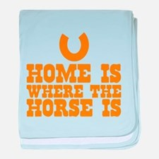 HOME is where the HORSE is with a lucky Horseshoe