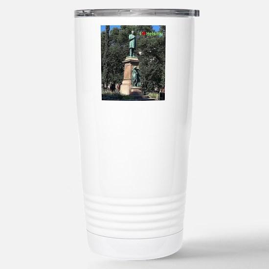 Runeberg statue Travel Mug