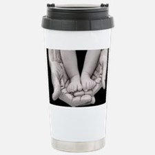 fathers day feet and hands Travel Mug