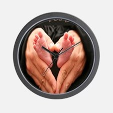 hands and feet mousepad Wall Clock