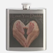 hands and feet tile Flask