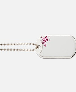 Tribal White Dog Tags