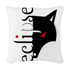 Eclipse Moon Wolf by Twibaby Woven Throw Pillow