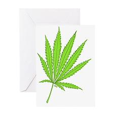 marijuana leaf-color-lg-001 Greeting Card