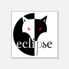 """eclipse illusion wolf by tw Square Sticker 3"""" x 3"""""""