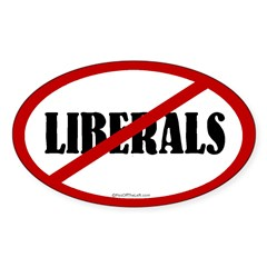No Liberals Oval Decal