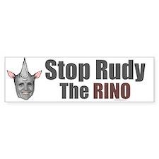 Stop Rudy The RINO Bumper Bumper Sticker