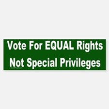 Anti-Affirmative Action Bumper Bumper Bumper Sticker