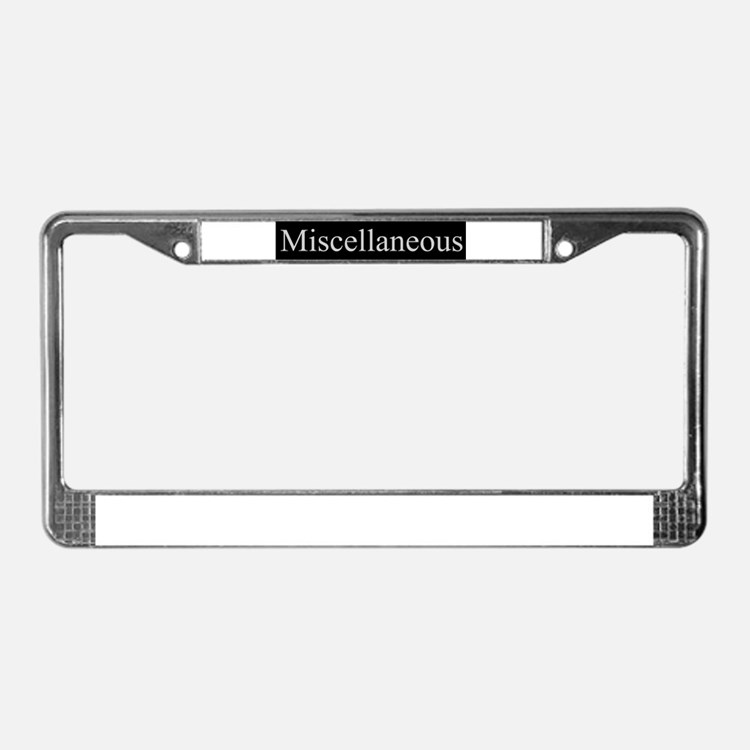 Miscellaneous License Plate Frame
