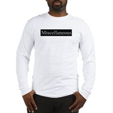 Miscellaneous Long Sleeve T-Shirt