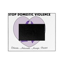 3 domestic violence heart Picture Frame