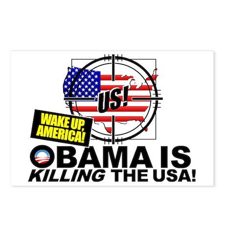 OK-obama-oil-leak-disaste Postcards (Package of 8)