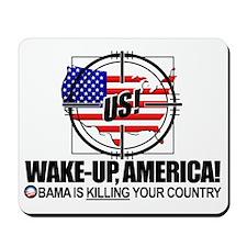 2012-wake-up-america-obamas-katrina Mousepad