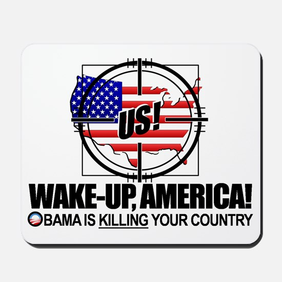 2012-wake-up-america-obamas-katrina Mousepad