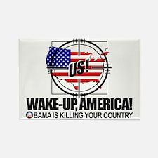 2012-wake-up-america-obamas-katri Rectangle Magnet