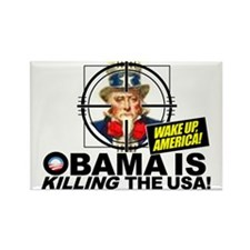OK-obama-oil-leak-disaster-t-shir Rectangle Magnet