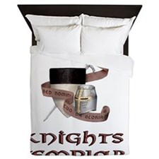 knights templar non nobis Queen Duvet