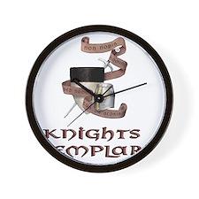 knights templar non nobis Wall Clock
