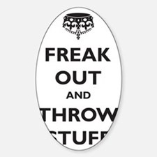 freak-out Sticker (Oval)