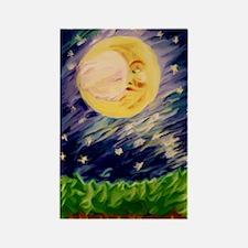 Night Moon Rectangle Magnet