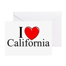 """I Love California"" Greeting Cards (Pk of 10)"