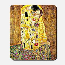 The Kiss by Gustav Klimt Mousepad