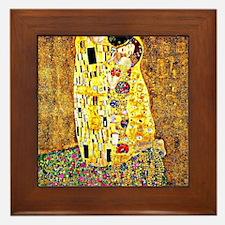 The Kiss by Gustav Klimt Framed Tile