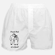 Proud Grad Dad-vertical-words Boxer Shorts