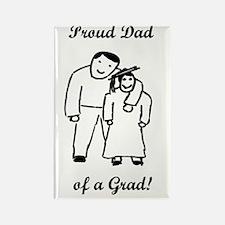 Proud Grad Dad-vertical-words Rectangle Magnet