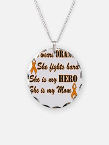 She is Mom Orange Hero Necklace