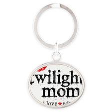 Twilight Mom S6 Oval Keychain
