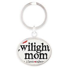 Twilight Mom Lapel Oval Keychain