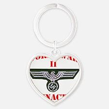 WWII german tshirt3 Heart Keychain