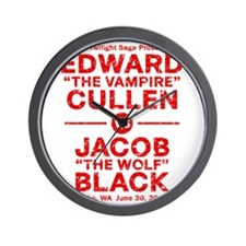 edward-vs-jacob_red_ds2 Wall Clock