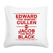 edward-vs-jacob_red_ds2 Square Canvas Pillow