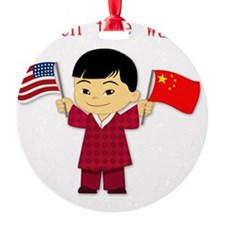 Chinese_Boy Round Ornament