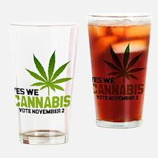 Cannabis BBtn Drinking Glass