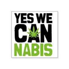 "Cannabis Yes Square Sticker 3"" x 3"""