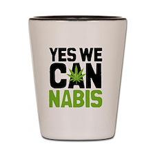 Cannabis Yes Shot Glass