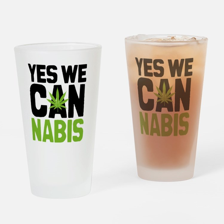 Cannabis Yes Drinking Glass