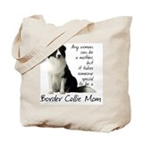 Border collie mom Regular Canvas Tote Bag