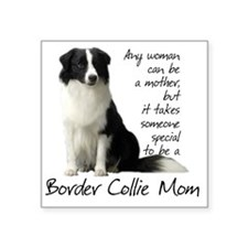 "Border Collie Square Sticker 3"" x 3"""